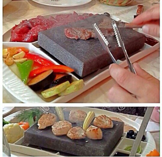 стоун гриль 400град, вулканический камень для жарки мяса,